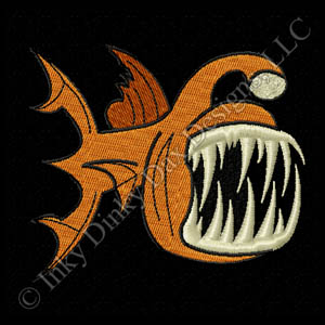 Deep Sea Angler Fish Embroidery