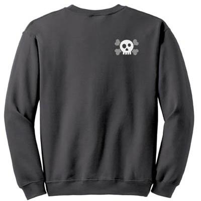 Cool Embroidered Skull Sweatshirt