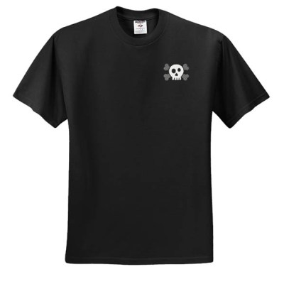 Skull and Crossbones Embroidered T-Shirt