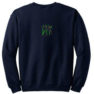 Unique Sea Dragon Embroidered Sweatshirt