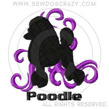 Embroidered Show Coat Poodle Shirts