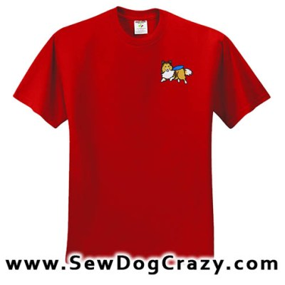 Disc Dog Sheltie Tshirt