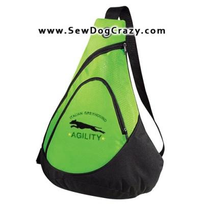 Embroidered Italian Greyhound Agility Bag