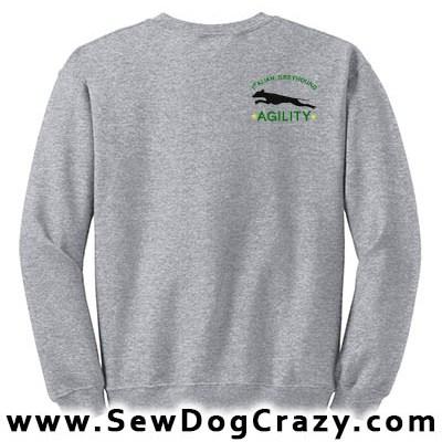 Embroidered Italian Greyhound Agility Sweatshirts
