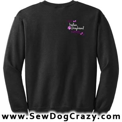 Pretty Embroidered Italian Greyhound Sweatshirts