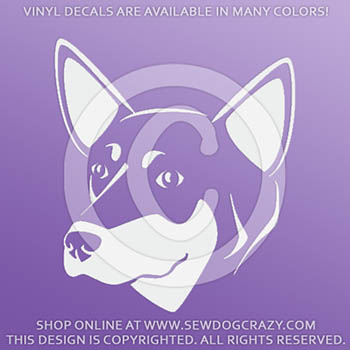 Australian Kelpie Head Decals