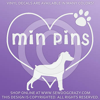 Natural Ears Miniature Pinscher Decals