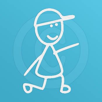 Disc Dog Man Stick Figure