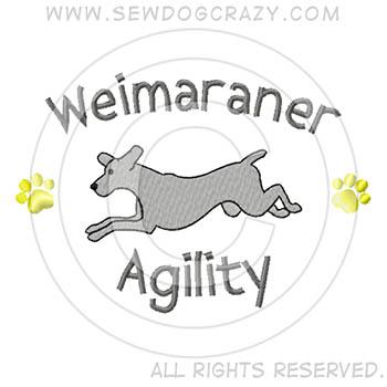 Cartoon Weimaraner Agility Shirts