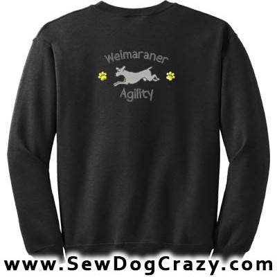 Cartoon Weimaraner Agility Sweatshirt
