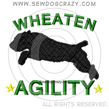 Embroidered Soft Coated Wheaten Terrier Agility Shirts