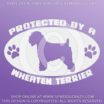 Protected by a Soft Coated Wheaten Terrier Decal