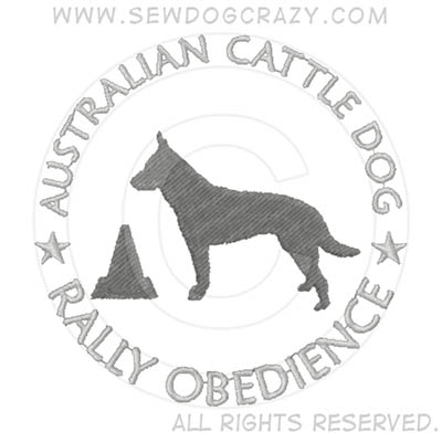 Australian Cattle Dog Rally Obedience Shirts
