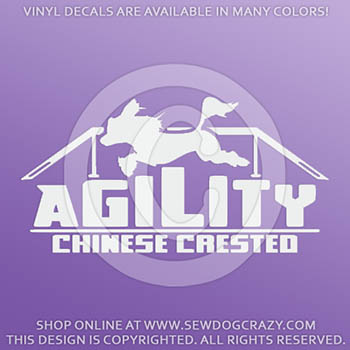 Chinese Crested Agility Car Decals