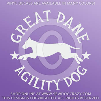 Great Dane Agility Decals
