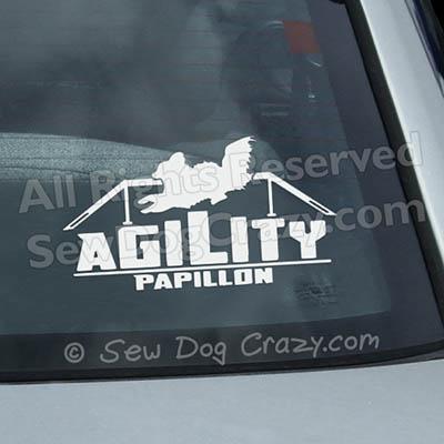 Papillon Agility Dog Walk Vinyl Sticker
