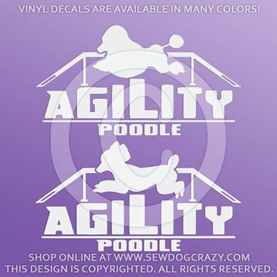 Poodle Agility Vinyl Stickers