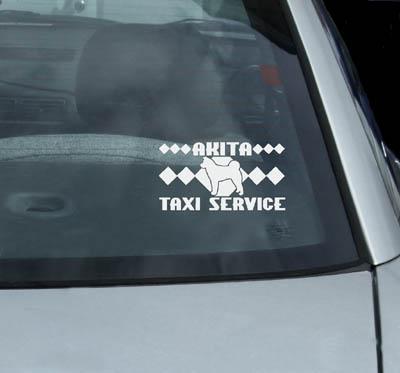 Akita Taxi Decals