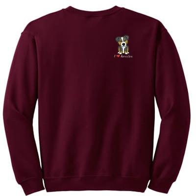 Cute Tri Aussie Embroidered Sweatshirt