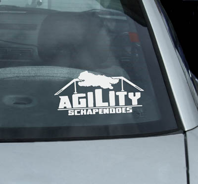 Vinyl Agility Schapendoes Stickers