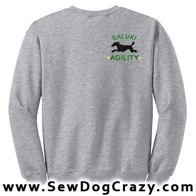 Embroidered Saluki Agility Sweatshirt