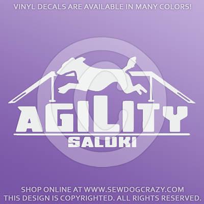 Agility Saluki Dog Walk Decal