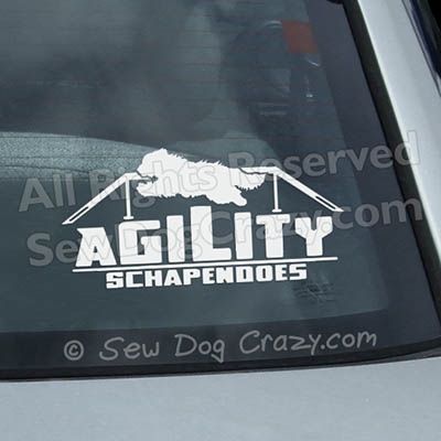 Schapendoes Agility Window Stickers