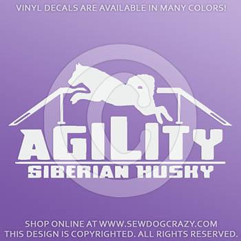 Siberian Husky Agility Vinyl Stickers