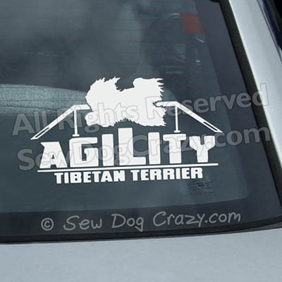 Tibetan Terrier Agility Vinyl Stickers