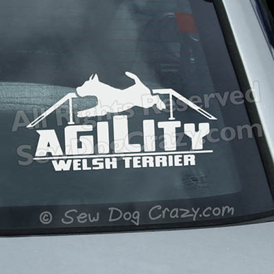Welsh Terrier Agility Decals