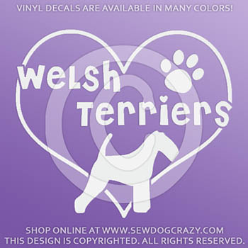 Love Welsh Terriers Car Decals