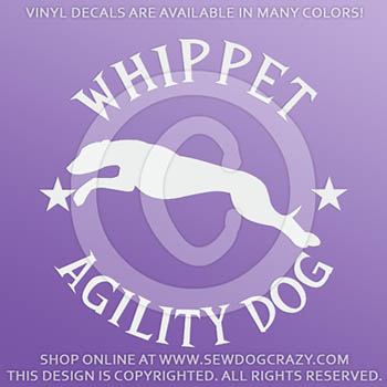 Whippet Agility Dog Vinyl Sticker