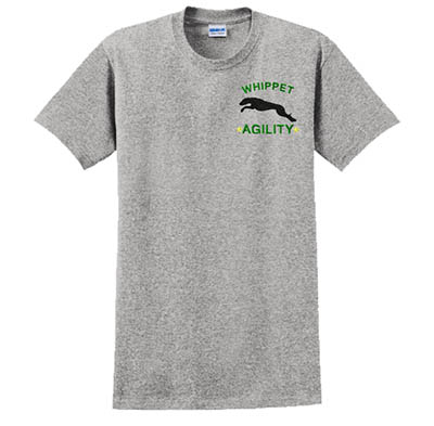 Embroidered Whippet Agility Tshirt