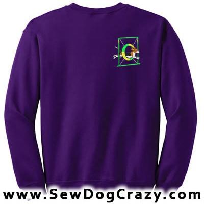 Embroidered Beagle Tire Jump Sweatshirt