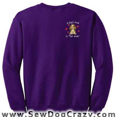 Embroidered Cartoon Dog Sweatshirt
