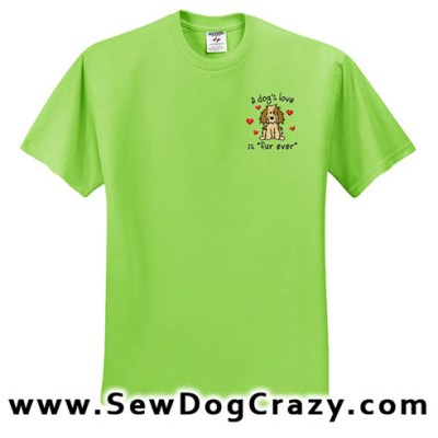 Embroidered Dog Lover Tshirt