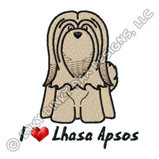 Cute Cartoon Lhasa Apso Apparel