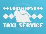 Lhasa Apso Taxi Sticker