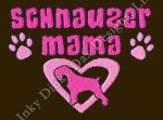 Fun Schnauzer Mom Embroidery Apparel