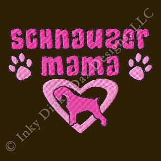 Fun Schnauzer Mom Embroidery Apparel