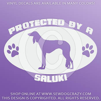 Protected by a Saluki Car Stickers