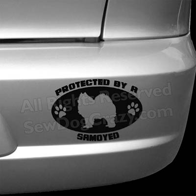 Protected by a Samoyed Bumper Sticker