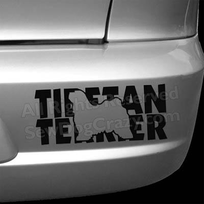 Vinyl Tibetan Terrier Bumper Sticker