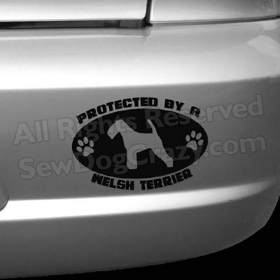 Protected by a Welsh Terrier Bumper Stickers