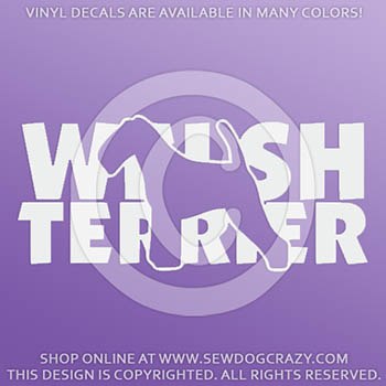 Welsh Terrier Vinyl Stickers