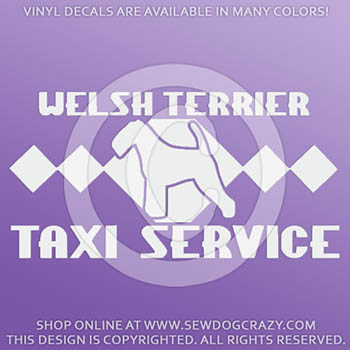 Welsh Terrier Taxi Car Stickers