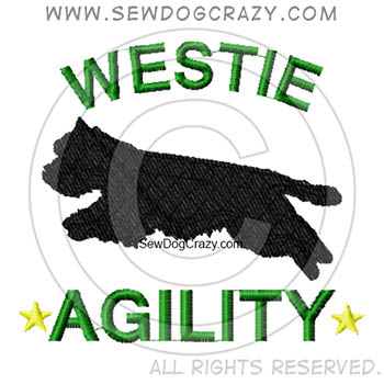 Embroidered Westie Agility Shirts