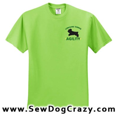Embroidered Yorkie Agility TShirts