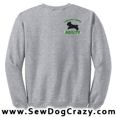 Embroidered Yorkie Agility Sweatshirts