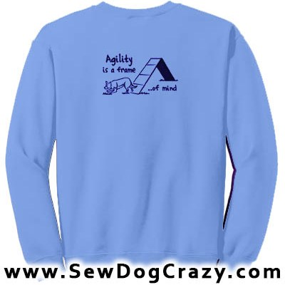 Embroidered Border Collie Agility Sweatshirts
